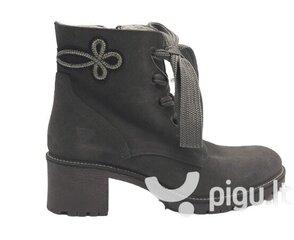Laisvalaikio zomšiniai batai Tamaris, juodi kaina ir informacija | Aulinukai, ilgaauliai batai moterims | pigu.lt