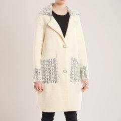 Ilgas paltas-megztinis, baltas kaina ir informacija | Megztiniai moterims | pigu.lt