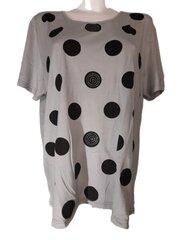 Marškinėliai moterims, pilki kaina ir informacija | Marškinėliai moterims | pigu.lt