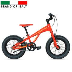 Dviratis Esperia 9000 fat bike 16'', raudonas/geltonas kaina ir informacija | Dviračiai | pigu.lt