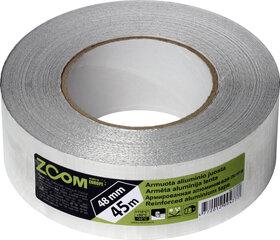Armuota aliuminio juosta 48mm x 45m, ZOOM kaina ir informacija | Mechaniniai įrankiai | pigu.lt