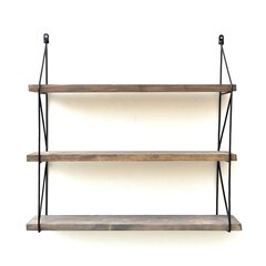 Pakabinama lentyna Kalune Design Wall Shelf 792, 55 cm, tamsiai ruda/juoda kaina ir informacija | Lentynos | pigu.lt