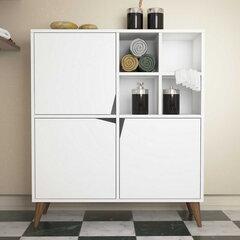 Komoda Kalune Design 845, 115 cm, balta kaina ir informacija | Komodos | pigu.lt