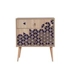 Komoda Kalune Design Dresser 3431, ąžuolo spalvos/violetinė kaina ir informacija | Komodos | pigu.lt