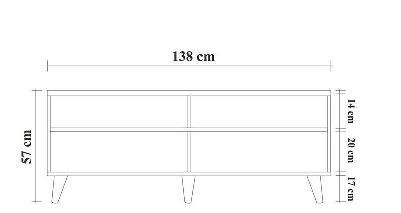 Svetainės baldų komplektas Kalune Design 869(IV), rudas