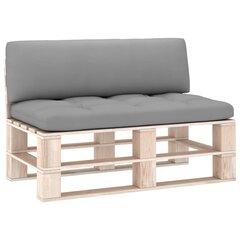 Pagalvės sofai iš palečių, 2 vnt, pilkos kaina ir informacija | Pagalvės sofai iš palečių, 2 vnt, pilkos | pigu.lt