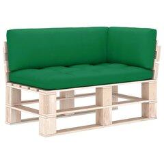 Pagalvėlės sofai iš palečių, 3 vnt, žalios kaina ir informacija | Pagalvėlės sofai iš palečių, 3 vnt, žalios | pigu.lt