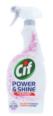 Purškiamas antibakterinis valiklis Cif Power & Shine, 700 ml kaina ir informacija | Purškiamas antibakterinis valiklis Cif Power & Shine, 700 ml | pigu.lt