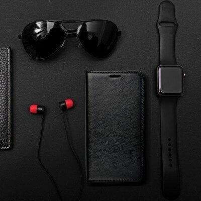 Dėklas telefonui Magnet Book, skirtas Samsung Galaxy A42 5G, juodas