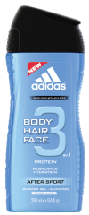 Dušo želė Adidas After Sport 3in1 vyrams 250 ml