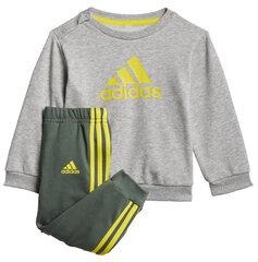 Sportinis kostiumas vaikams Adidas I Bos Jog Ft, pilkas kaina ir informacija | Komplektai berniukams | pigu.lt