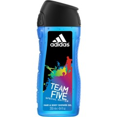 Dušo želė Adidas Team Five vyrams 250 ml