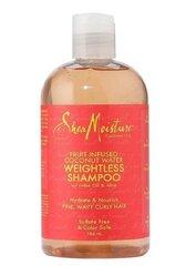 Plaukų šampūnas Shea Moisture Fruit Infused Coconut Water, 384 ml kaina ir informacija | Šampūnai | pigu.lt