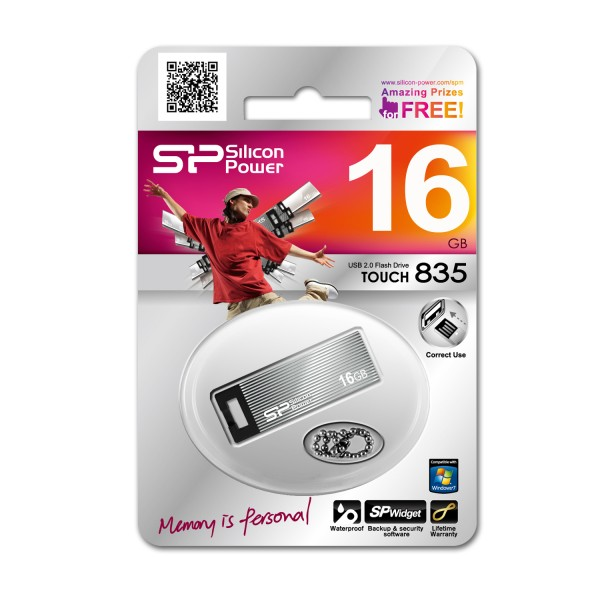 Atmintinė Silicon Power Touch 835 16GB, USB 2.0