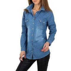 Marškiniai moterims SW 82790-1039409, mėlyni kaina ir informacija | Palaidinės, marškiniai moterims | pigu.lt