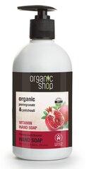 Skystas muilas su vitaminais Organic Shop 500 ml