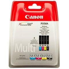 CANON CLI-551 C/M/Y/BK MultiPack kaina ir informacija | Kasetės rašaliniams spausdintuvams | pigu.lt