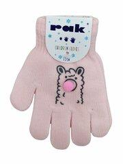 Pirštinės mergaitėms Rak R-064, rožinės kaina ir informacija | Pirštinės mergaitėms Rak R-064, rožinės | pigu.lt