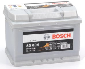 Akumuliatorius Bosch 61Ah 600A S5004 kaina ir informacija | Akumuliatoriai | pigu.lt