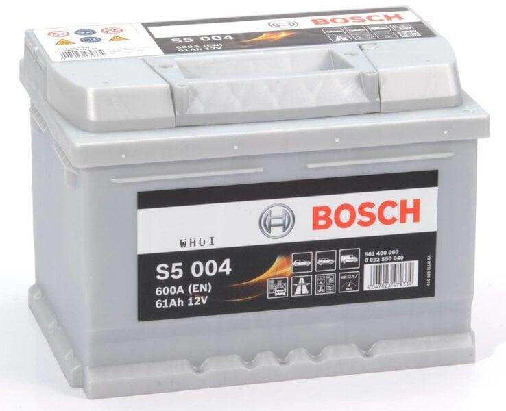 Akumuliatorius Bosch 61Ah 600A S5004