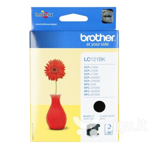 Brother LC121BK, Black Ink Cartridge 300 pages