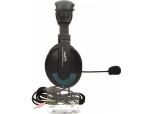 Natec Grizzly High Quality Headphones With Microphone / Textile Cable / 3.5mm Gold Platted / Black