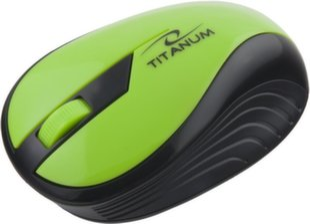 Bevielė optinė pelė Titanum 3D TM114G RAINBOW | 2.4 GHz | 1000 DPI | Žalia