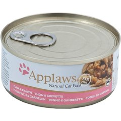 Konservai Applaws Cat Tuna Fillet with Prawn, 156 g