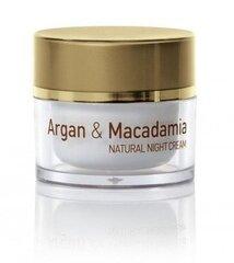 Naktinis veido kremas Natural Cosmetic Argan & Macadamia 50 ml
