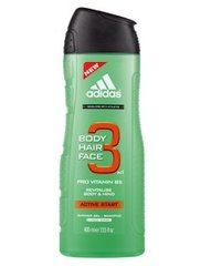Dušo želė Adidas Active Start 3in1 vyrams 400 ml