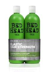 Priežiūros priemonių rinkinys plaukų stiprinimui Tigi Bed Head Elasticate: šampūnas 750 ml + balzamas 750 ml