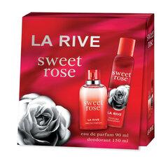 Rinkinys La Rive Sweet Rose: EDP moterims 90 ml + dezodorantas 150 ml