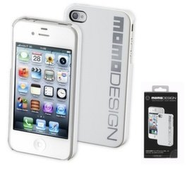 Apple iPhone 4 cover by Momo white/silver