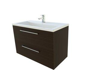 Apatinė vonios spintelė su praustuvu Scandic 81 cm