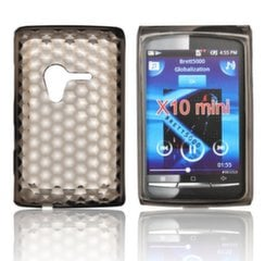 Forcell Sony Ericsson Xperia X10 Mini Silicone Back Case Lux Transparent/Black