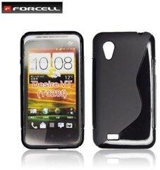 Apsauginis dėklas Forcell Back Case skirtas HTC Desire VT (T328T), Juodas kaina ir informacija | Telefono dėklai | pigu.lt