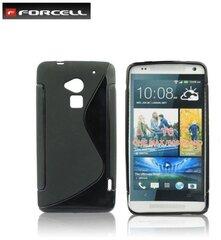 Apsauginis dėklas Forcell Back Case skirtas HTC One Max T6, Juodas kaina ir informacija | Telefono dėklai | pigu.lt