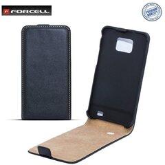 Atverčiamas dėklas Forcell Slim Flip skirtas Nokia X, Juodas