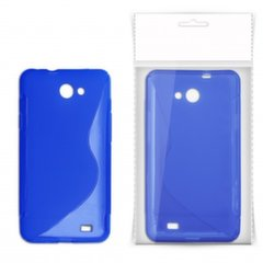 KLT Back Case S-Line Sony Xperia J ST26i silicone/plastic case Blue
