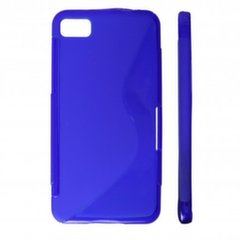 KLT Back Case S-Line Samsung S5360 Galaxy Y silicone/plastic case Blue