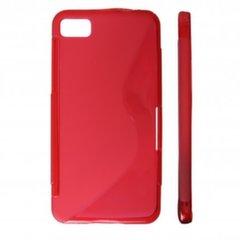 KLT Back Case S-Line Sony Xperia U ST25i silicone/plastic case Red