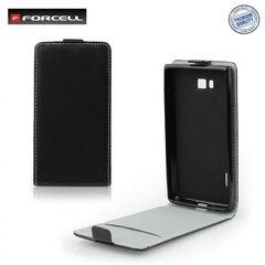 Atvečiamas dėklas Forcell Flexi Slim Flip skirtas Samsung Galaxy Core Advance (i9070), Juodas
