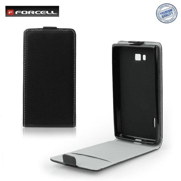 Atverčiamas dėklas Forcell Flexi Slim Flip skirtas Samsung Galaxy Ace 3 (S7270), Juoda