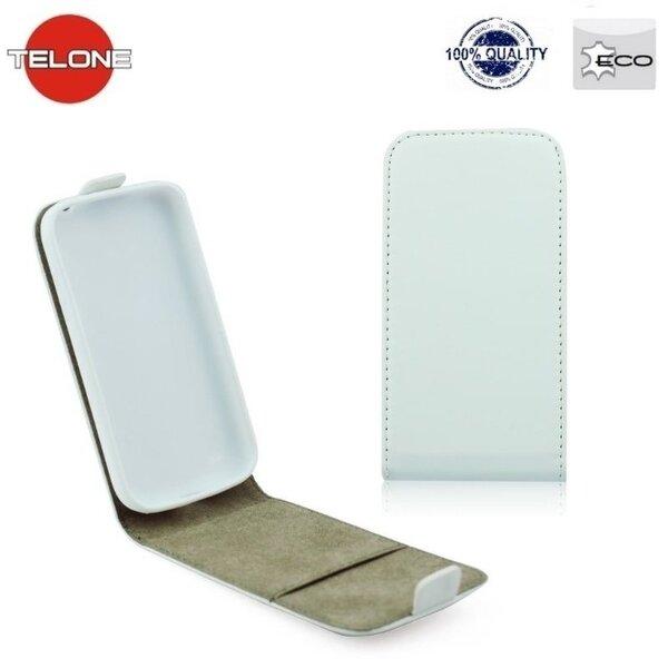 Atverčiamas dėklas Telone Flexi Slim Flip skirtas Nokia Lumia 830, Balta