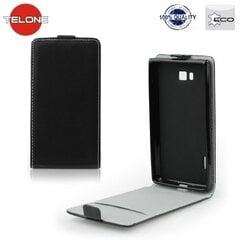 Telone Flexi Slim Flip Samsung N7505 Galaxy Note Neo vertical case in silicone holder Black