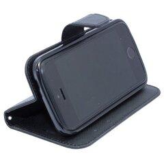 Apsauginis dėklas Telone Fancy Diary Bookstand skirtas Samsung Galaxy S3 mini (i8190), Juoda kaina ir informacija | Telefono dėklai | pigu.lt