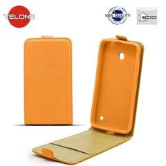 Telone Shine Pocket Slim Flip Case Samsung i9500 Galaxy S4 vertical book case Orange kaina ir informacija | Telefono dėklai | pigu.lt