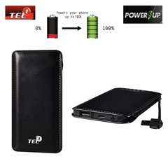 Tel1 Power Bank 12000mAh, Juoda