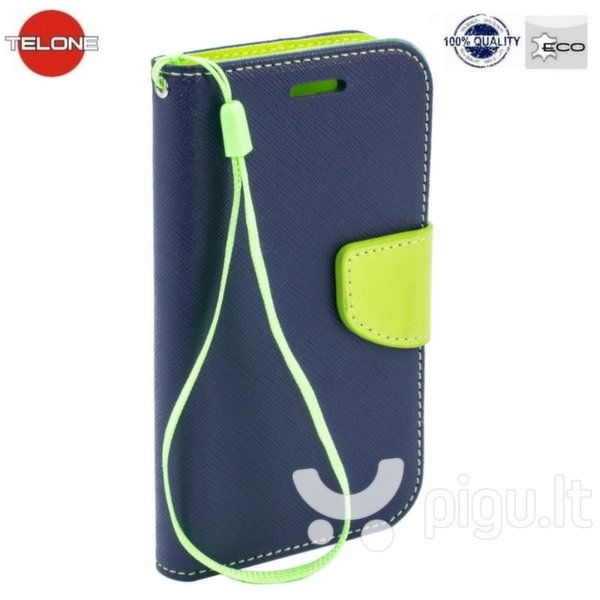 Atverčiamas dėklas Telone Fancy Diary Bookstand skirtas Samsung Galaxy A5 (A500), Mėlyna
