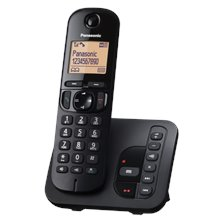 Panasonic KX-TGC220FXB Cordless phone, Black